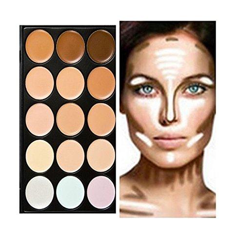 15 Farben Palette Make-up Grundierung und Concealer für einen makelosen, frischen Teint.
