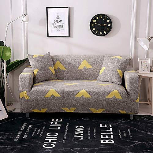 Funda de sofá elástica Fundas de sofá de algodón Envoltura Ajustada Fundas de sofá con Todo Incluido para Sala de Estar Mascotas Funda de sofá A10 1 Plaza