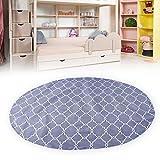 Alfombrilla antideslizante para silla de bebé, patrón de trona lavable de moda Alfombrilla de protección para el piso a prueba de agua Cubierta de mesa Paño para el tiempo de artesanía gris casero, fá