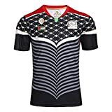 MGRH 16-17 Palestine Rugby Jersey, Supporter Football Sport Top, Classique Rugby T-Shirt, en Vrac, Respirant, à séchage Rapide (S-3TG) Black-M
