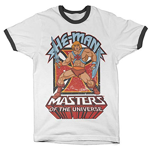 He-Man Masters of the Universe Official Ringer T-shirt, S to XXL