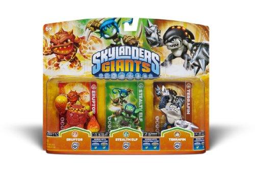 Activision Skylanders Giants Triple Pack #6 (Eruptor, Stealth Elf & Terrafin)