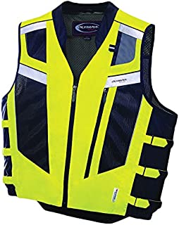 Olympia Moto Sports MV306 Blaze Hi-Viz Safety Vest (Neon Yellow/Black, X-Large/XX-Large)