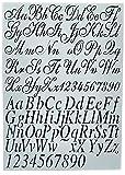 Dutch Doobadoo Stencil Art A4 letras 2, 1
