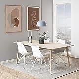 Design Furniture Emanuel Silla de Cuna, Piel de imitación, Blanco, L: 54 x W: 48.5 x H: 85.5 cm...