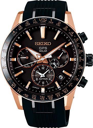 Seiko astron Reloj para Hombre Analógico de Solar con Brazalete de Silicona SSH006J1