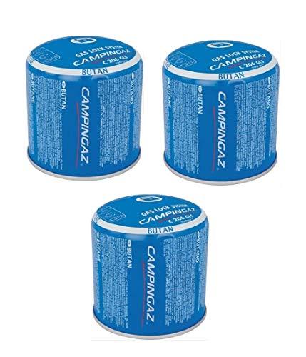 Bombona de cartucho de cartuchos de gas de 190 g – C206 GLS Campingaz C206GLS – con sistema de seguridad de membrana – Oferta para 3 bombonas