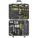 WZG - Set di chiavi a bussola, cassetta degli attrezzi in valigetta, 116 pezzi, in acciaio al cromo vanadio