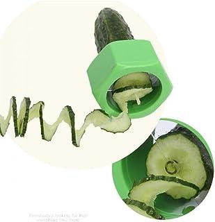 ZJZ 1 pcs Légumes Spiralizer Légumes Vis Concombre Trancheuse en Plastique Éplucheur Fruits Spiralizer Salade Cutter Cuisi...