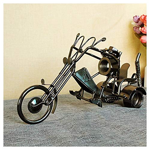 GWModel Vintage Modelo Triciclo Hierro Artesanal Vehículo Modelo Antiguo Arte Colección Home Escritorio Retro Decoración Metal Personalidad Creativa Ornamento Regalo