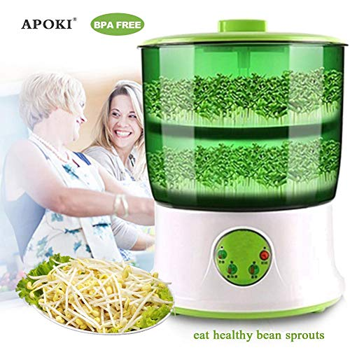 APOKI Germinador,Verde,Completamente Automático,Hogar,Libre De Bpa