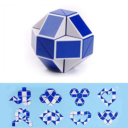 HuiBOYS 24 Stück Schlangen Würfel 24 Blöcke Puzzle Magische Schlange Cube Spielzeug Lebendige Farben Langlebig Kindergeburtstag Geschenke Party Giveaways Gastgeschenke Mitgebsel Mitbringsel.