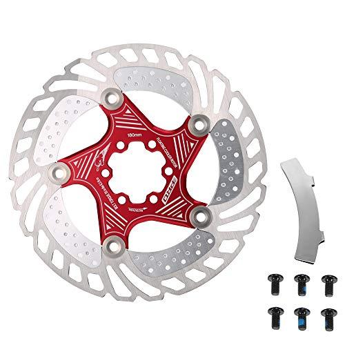 Lixada Rotor de Enfriamiento Flotante de Disco de Freno de Bicicleta de Carretera con Herramienta de Alineación de Frenos para Ciclismo MTB de 140MM / 160MM / 180MM / 203MM
