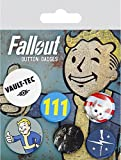 Button 6er Set - Fallout (Mix 1) -