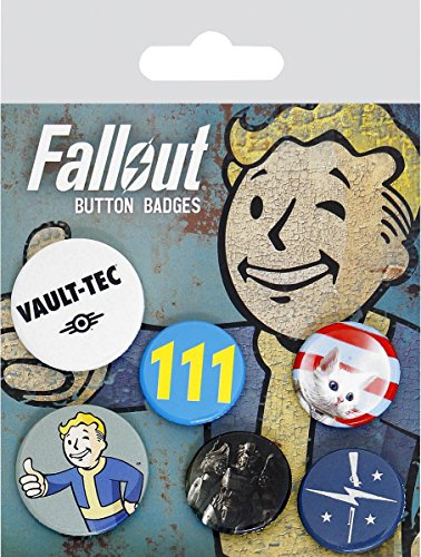 Button 6er Set - Fallout (Mix 1)