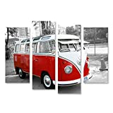 Bild Bilder auf Leinwand Bulli Bus T1 Vintage Wandbild,