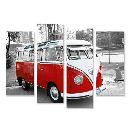 Bild Bilder auf Leinwand Bulli Bus T1 Vintage Wandbild, Poster, Leinwandbild