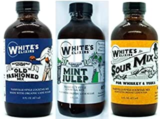 White's Elixirs Whiskey Cocktail Variety Pack - Old Fashioned, Sour, Mint Julep