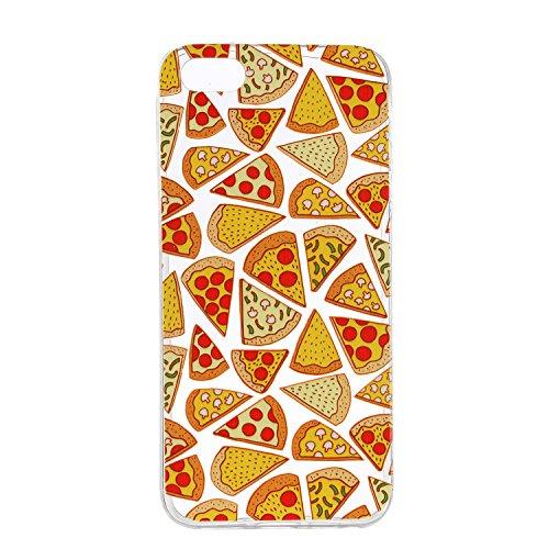 YYhin Cáscara Case para Funda Apple iPhone 5 / iPhone 5S / SE(4.0'),Carcasa Protectora de Silicona TPU #HX44/Pizza