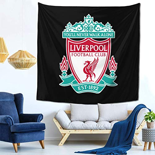 Liverpool FC Logo Europ Champion Cute Art Wall Tapestry Hanging for 59X59 Inch