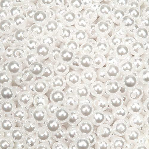 Toaob, 1000 perline rotonde in plastica liscia, facili da infilare per gioielli, collane, bracciali, artigianato