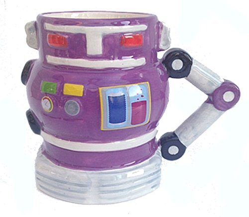 Simply Mugs Purple Robot Mug INC. Scatola Colorata