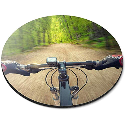 Ronde muismat - Mountain Bike Forest Sports Office Gift