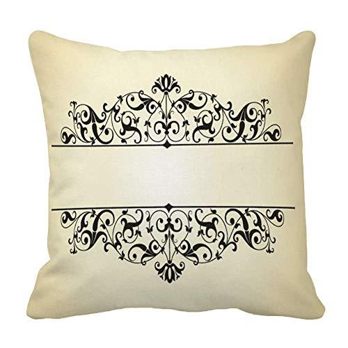 Perfecone Home Improvement - Funda de almohada de algodón para sofá y coche (60 x 60 cm), color negro