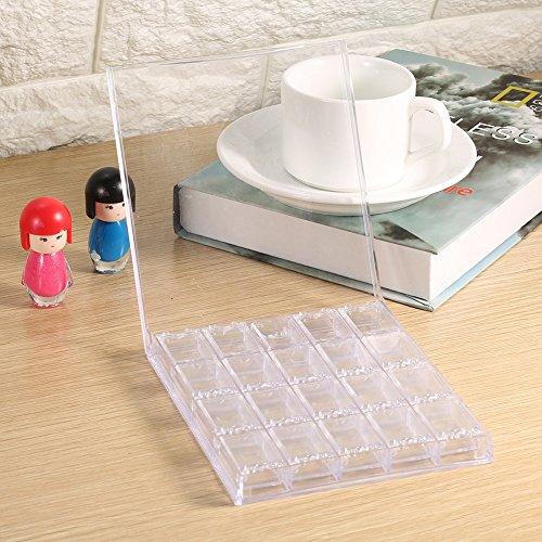 Boîte de rangement Nail Art, 20 grilles boîte de boîte d'affichage de bijoux de conteneur de perles durables pour manucure