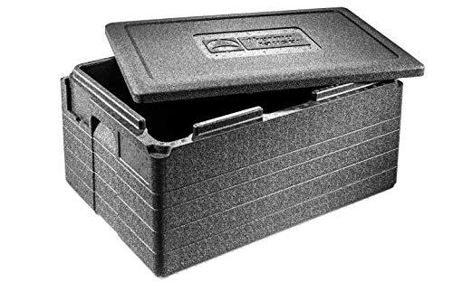 thermohauser EPP-Thermobox GN 1/1 Gastrostar inklusive Deckel - 50 Liter Volumen - 60 x 40 x 33 cm - 5-farbiges Einsteckkartenset