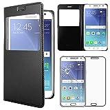 ebestStar - Funda Compatible con Samsung J5 Galaxy SM-J500F (2015) Carcasa Ventana Vista Cover Cuero...