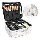 Luxtude Travel Makeup Bag for Women, Large Makeup Bag Organizer Makeup Case, Premium Makeup Storage with Adjustable Dividers, Travel Cosmetic Bag Make up Bag for Toiletries, Cosmetics, Jewelry etc.