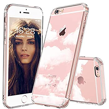 MOSNOVO iPhone 6 Case Clear iPhone 6S Case Cloud Pattern Clear Design Transparent Plastic Hard Back Phone Case with Soft TPU Bumper Protective Case Cover for iPhone 6/iPhone 6S
