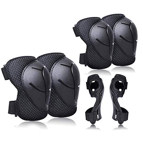 Child Knee Pads Elbow Pads Wrist Guards for Kids Protective Gear Set for Rollerblade Skateboard Derby Playwheels Trolls Roller Sports Protector 3 in 1