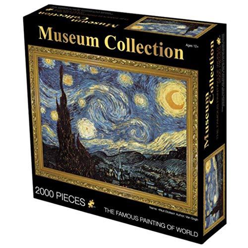 Notte Stellata di Vincent Van Gogh 2000 Pezzi di Puzzle: Arte for Bambini Adulti Puzzle Giocattolo Giochi educativi Regalo Jigsaw Puzzles Home Decor