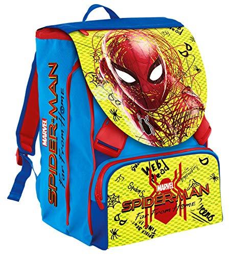 Seven 2D7001904-427 Zaino Estensibile Big Marvel Spider-Man, 28 Lt, Blu e Rosso, Con Gadget Abbinato! Scuola & Tempo Libero