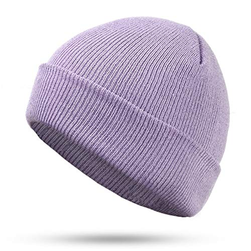 N/A Hoed trui cap rood blauw zwart oranje paars stretch gebreide muts voor mannen vrouwen ski caps