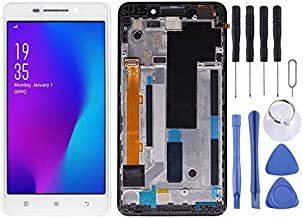 LCD Screen and Digitizer Full Assembly with Frame for Lenovo A5000 New (Black) Cycat (Color : Color1)