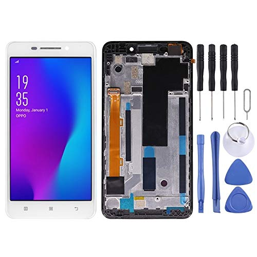 Zhangli Mobile Phone LCD Screen LCD Screen and Digitizer Full Assembly with Frame for Lenovo A5000(Black) LCD Screen (Color : Color1)