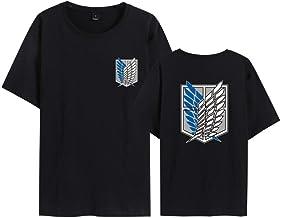 Attack on Titan T-shirt, anime cosplay kostuum accessoires 3D-print, uniseks, katoen, Halloween kostuum