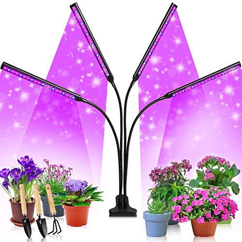 Etship LED Pflanzenlampe, 40W Pflanzenlicht Pflanzenleuchte Wachstumslampe, 80 Leds Grow Lampe Vollspektrum Wachsen Licht für Zimmerpflanzen mit Zeitschaltuhr, 3 Arten von Modus, 9 Helligkeitsstufen