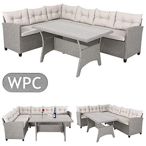 Casaria Conjunto muebles de Jardín 6 Personas Sofa de