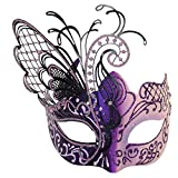 Masquerade Mask For Women Venetian Mask/Halloween/Party/Ball Prom/Mardi Gras/Wedding/Wall Decoration (Pink Butterfly)
