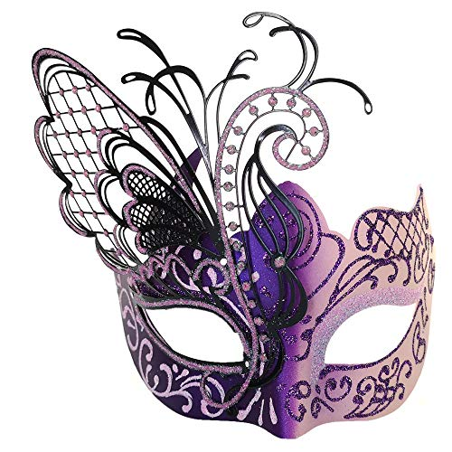 Masquerade Mask for Women Venetian Mask/Halloween/Party/Ball Prom/Mardi Gras/Wedding/Wall Decoration-Pink Butterfly