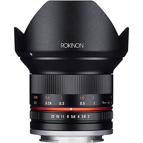 Rokinon 12mm F2.0 Ultra Wide Angle Lens for Sony E Mount Bundle with Sandisk 32GB Memory Card, 67mm Filter Sets, Monopod, Tripod and Accessories (4 Items)