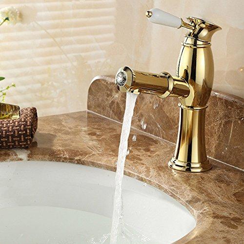Olici MDRW badkamer accessoires waterkraan gouden rook tekening wastafel met warm en koud water telescoop SOG douche tippen