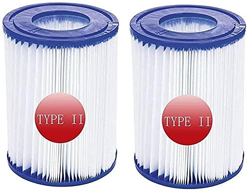 YANHUA Filtro de piscina tamaño 2, para Bestway 58094 cartucho de filtro tipo 2, repuesto inflable filtro de limpieza de piscina accesorio para piscina (2 unidades)