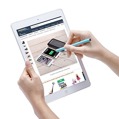 POWERADD Eingabestift, 5 Stück Stylus Pen Touchstift Touchscreen Stift für iPhone iPad Air Pro Samsung Galaxy Huawei Tablets und Alle Smartphone, Farbe:Schwarz, Gold, Grün, Orange, Blau