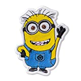 Despicable Me Minion Waving Jerry Embroidered Patch Iron On (3.1' × 4.2')