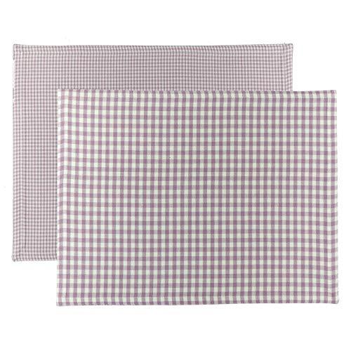 Scantex Wendeset Campos Lilac-Slight 34 x 45 cm, 2 Stück, 100% Baumwolle